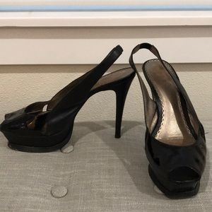 Bebe Zahara Black Patent size 7